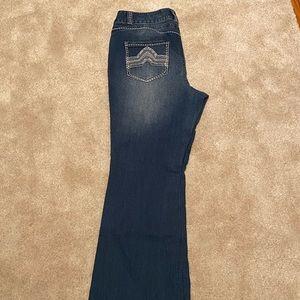 Lane Bryant Contrast Stitch Flare Jeans 18